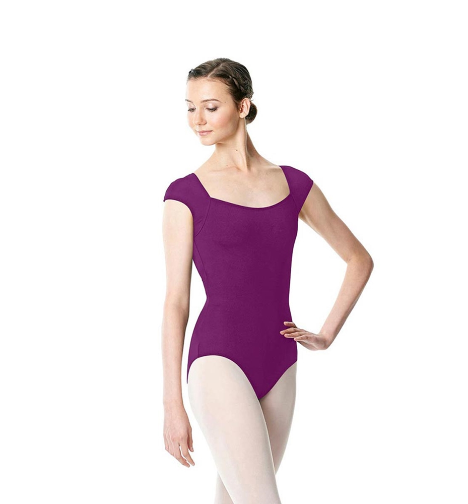 GRAPE Cap Sleeve Microfiber Dance Leotard Hensely