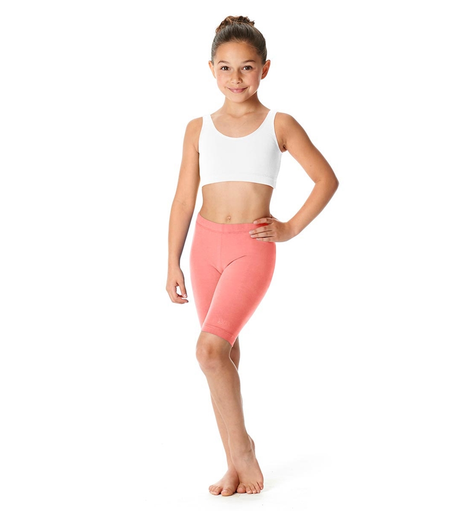 Girls Brushed Cotton Bike Shorts Trinity