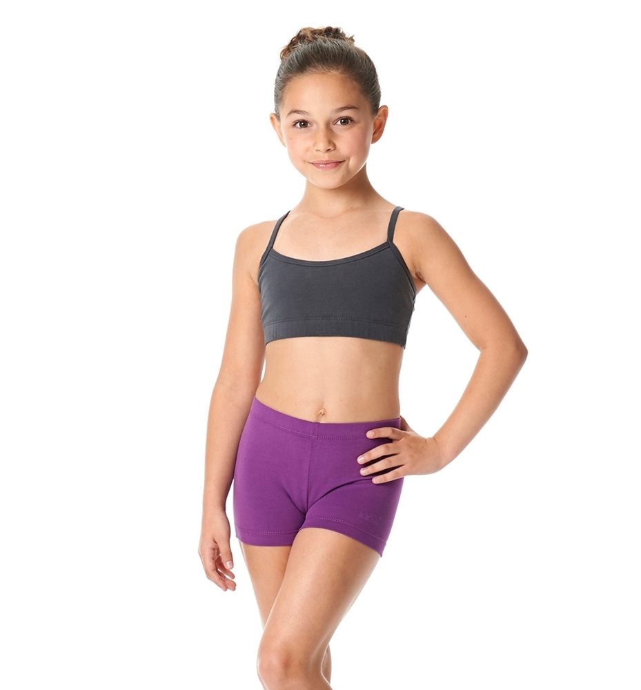 5aac9a0947 Girls Brushed Cotton Camisole Dance Bra Top Evelin