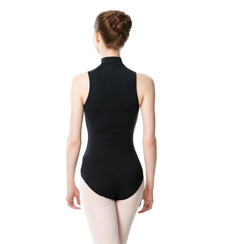 Microfiber Turtleneck Zipper Leotard Leah