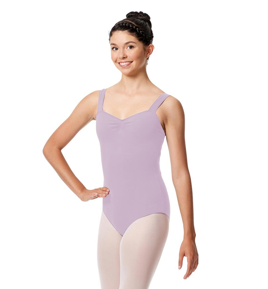 Pinch Front Leotard Constanza with Wide Straps