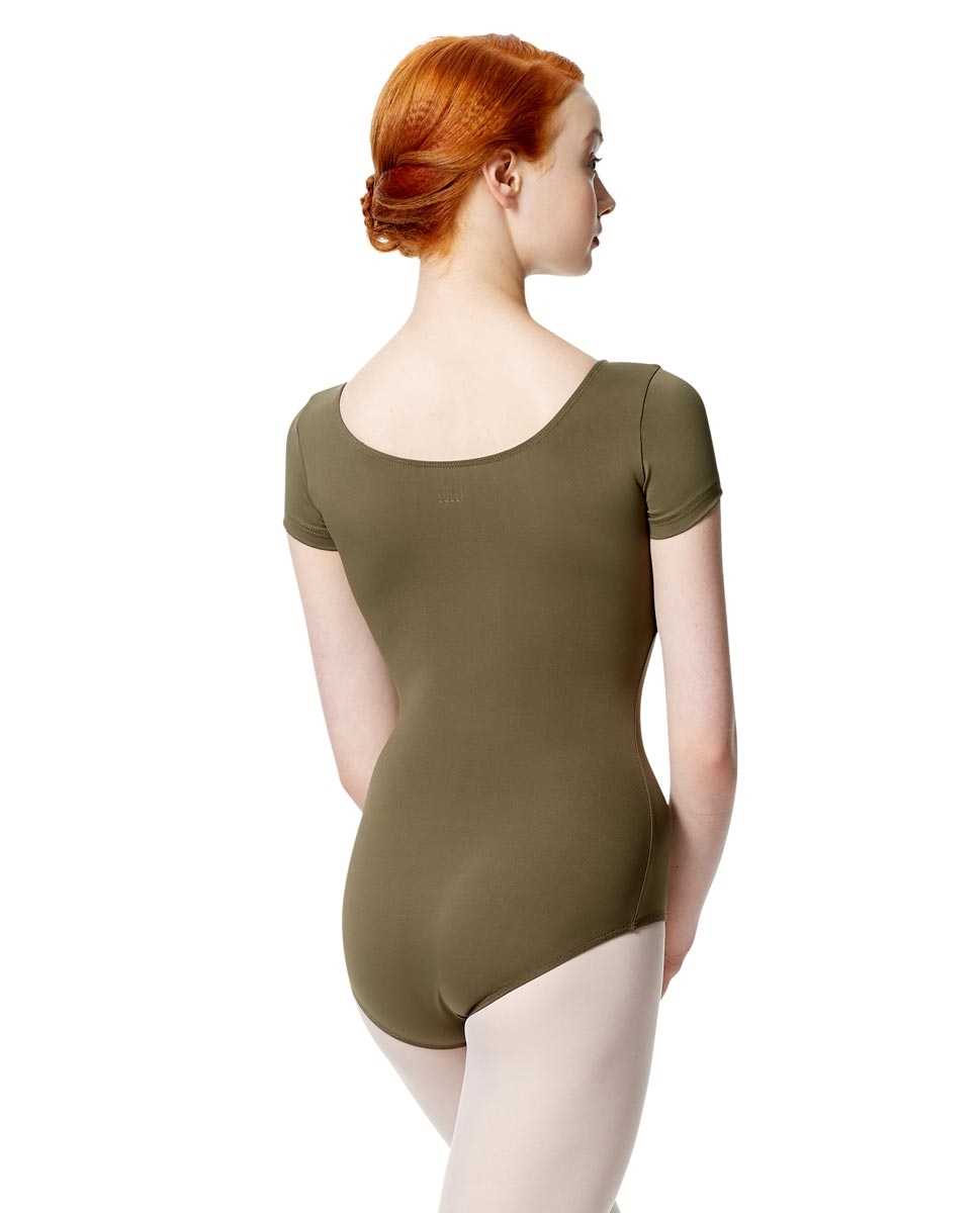 Women Microfiber Short Sleeve Leotard Abigail