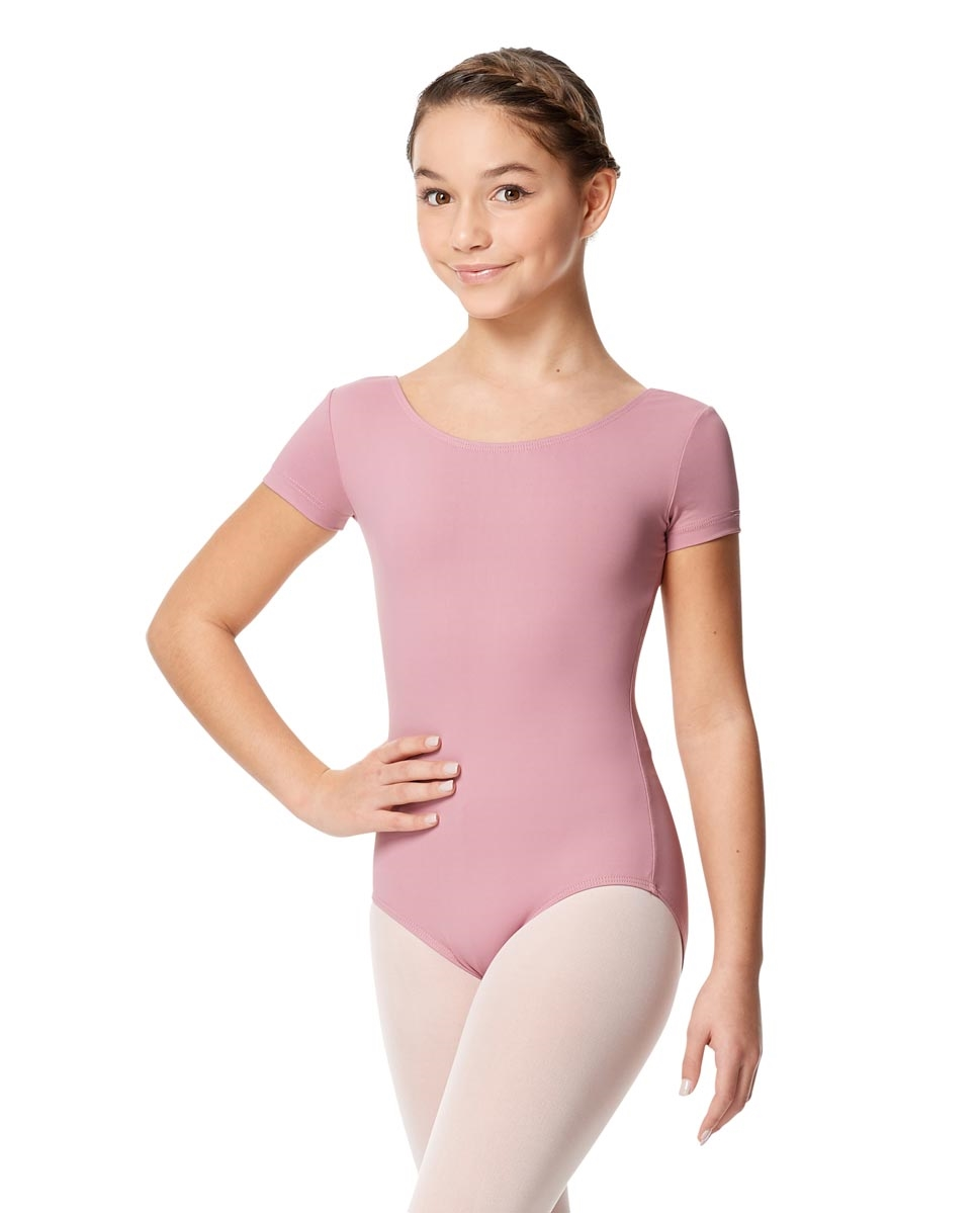 Girls Microfiber Short Sleeve Leotard Abigail