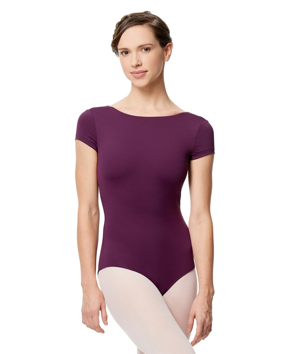 Women Microfiber Full Lining Short Sleeve Leotard Octavia