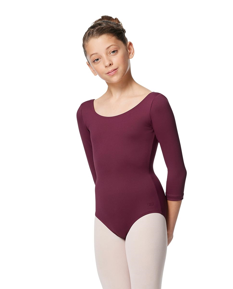 Girls V Back Long Sleeve Tactel Dance Leotard Veronika