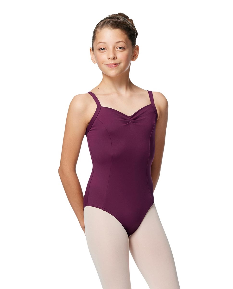 Girls Tactel Camisole Pinch Ballet Leotard Galina