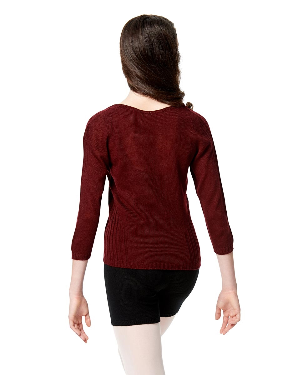Knitted  Long Sleeve Warm Up Sweater