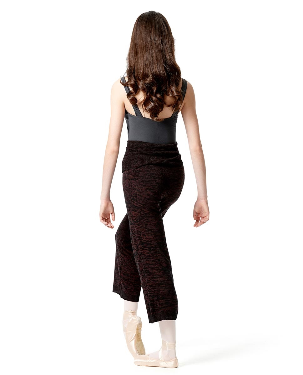 Knitted High Waist 7/8  Warm Up Pants
