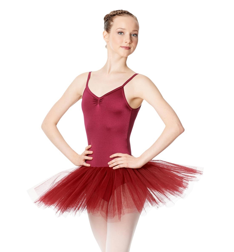 BURGUNDY LULLI BASIC LEOTARD