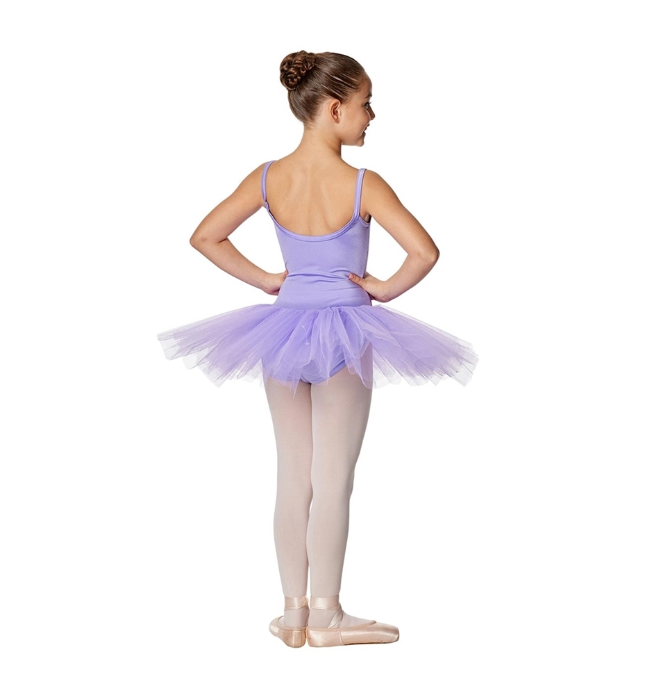 b914c3c98 Girls Camisole Tutu 4-layered tulle Dress Everly. PURPLE LULLI BASIC LEOTARD