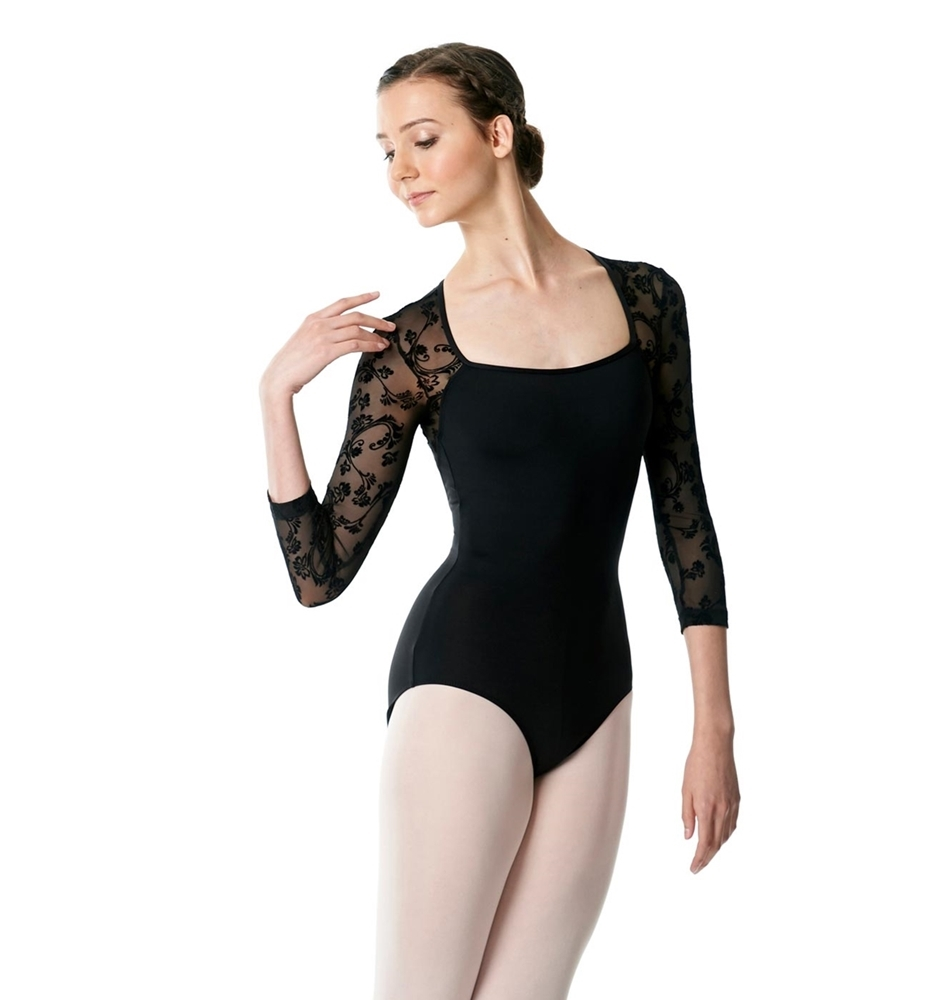 Long Sleeve Leotard Albertine Flower Mesh