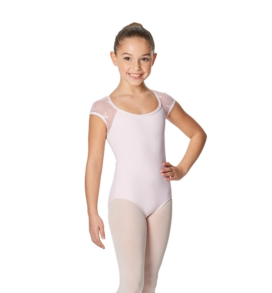 Girls Cap Sleeve Leotard Elaine