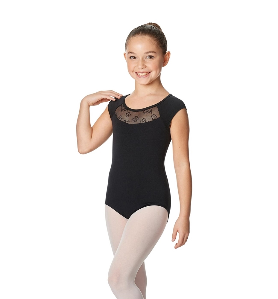 Girls Cap Sleeve Leotard Harriet