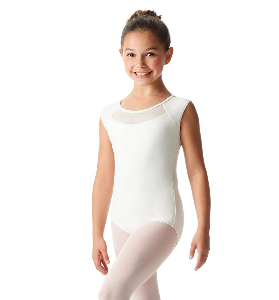 Cap Sleeve Leotard Harriet ivory