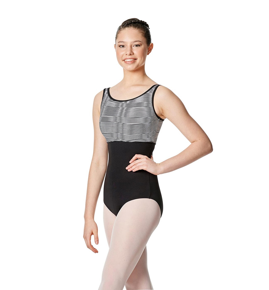 Tank Leotard Estelle balck white