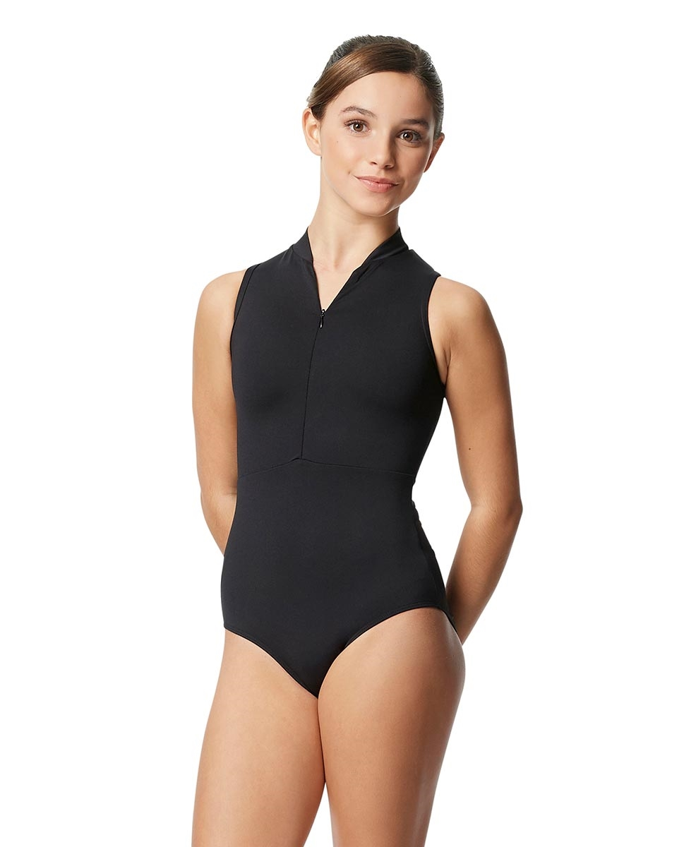 Halter Zip Front Leotard  for tweens Ximena