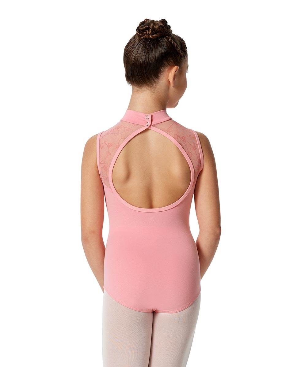Girls Mock Neck Tank Leotard Carla
