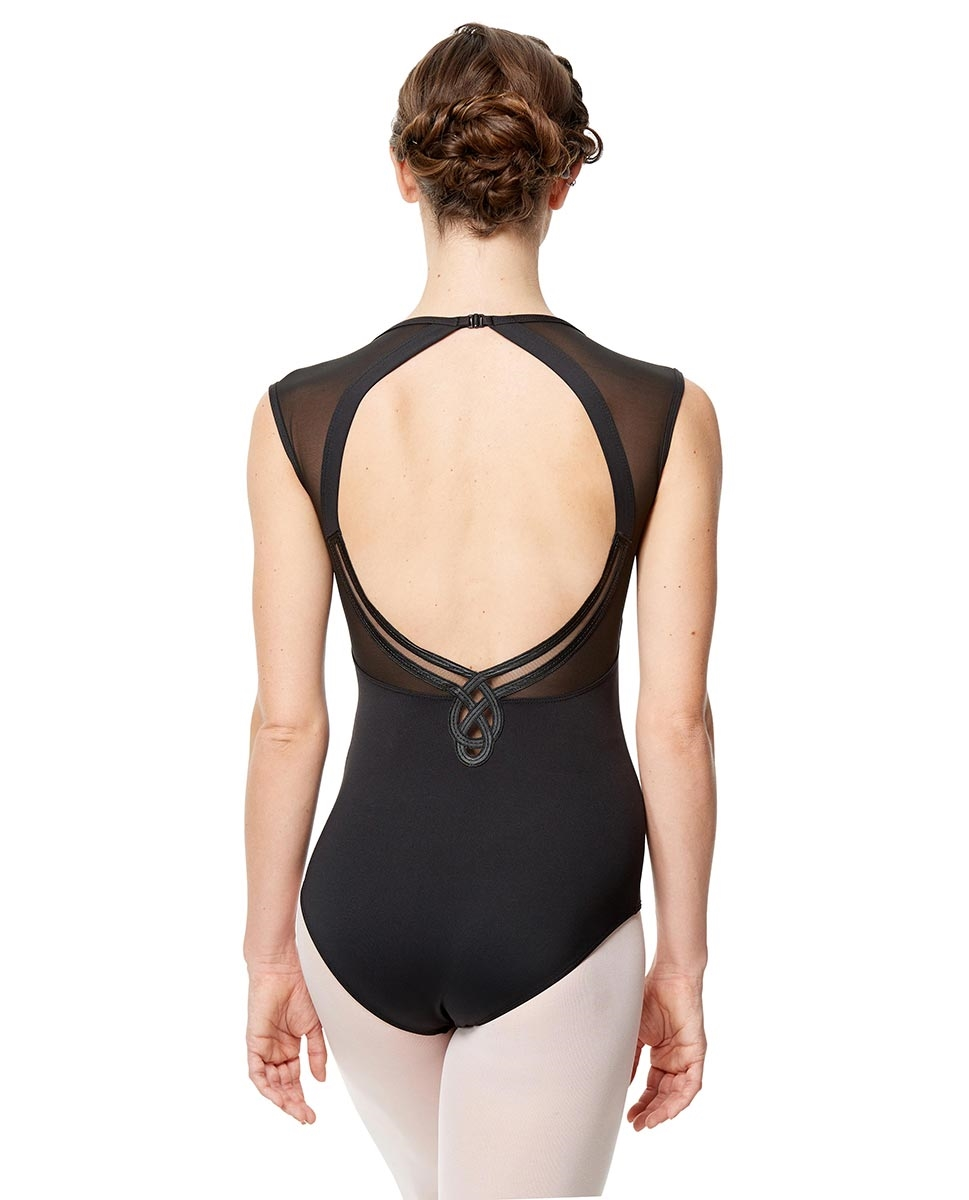 Women Mesh Cap Sleeve Dance Leotard Marcela