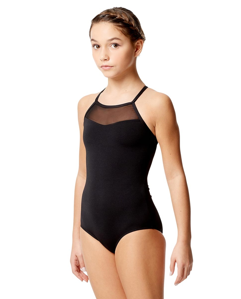 Girls Mesh Camisole Dance Leotard Senna