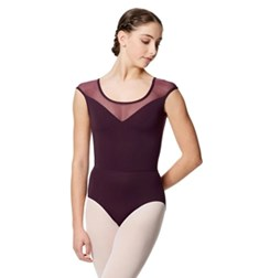 Microfiber and Mesh Tank Leotard Savannah