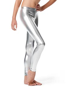 Girls Metallic Ankle Leggings Nadine