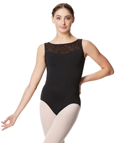 Girls Geo Mesh Tank Dance Leotard Adeline