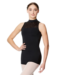 Girls Mock Neck Dance Biketard Nova