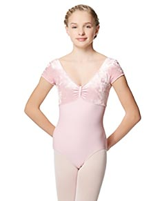 Girls Velvet Cap Sleeve Dance Leotard Eden