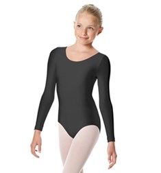 Kasia Girls Shiny Lycra Long Sleeve Leotard