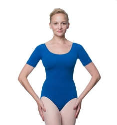 Short Sleeve Cotton Ballet Leotard Lauretta