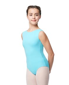 Girls Boat Neck Cotton Leotard Sabina