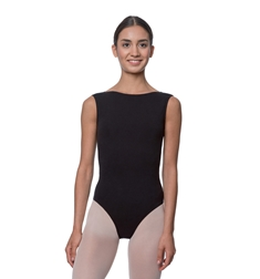 High Neck Cotton Dance Leotard Sabina