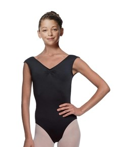 Girls Pinch Front Cap Sleeve Leotard Peyton