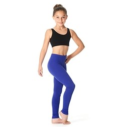 Girls Brushed Cotton Ankle Dance Leggings Layla
