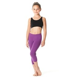 Girls Brushed Cotton Capri Dance Leggings Rayna