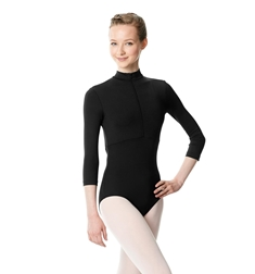 Microfiber Turtleneck Zipper Performance Leotard Eliana