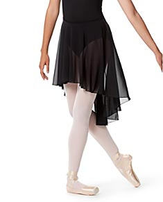 High-Low Ballet Mesh Skirt Lucrezia with Elastic Waistband.