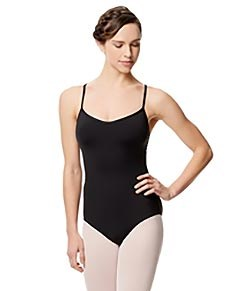 Microfiber Camisole Leotard With Removable Breast Cups Addie