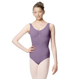 Girls Gathered Front Tactel Tank Dance Leotard Adrien