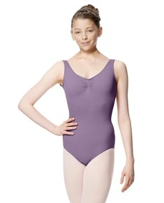 Gathered Front Tank Dance Leotard for Girls Adrien