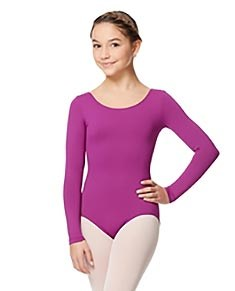 Girls Microfiber Long Sleeve Leotard Inez