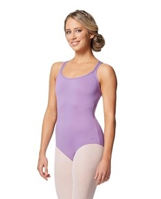 Women Double Strap Tactel Camisole Dance Leotard Caitie