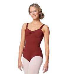 Women Wide Strap Camisole Leotard Cadina
