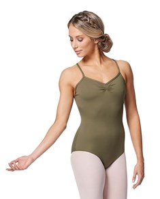 Women Gathered Front Camisole Dance Leotard Elena