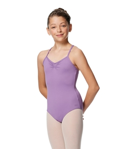Gathered Front Camisole Girls Purple Leotard Elena