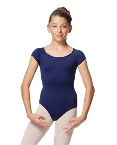 Girls Boat Neck Cap Sleeve Dance Leotard Maria