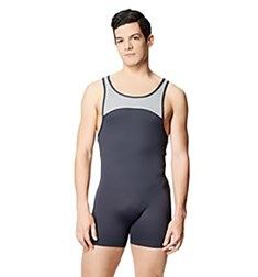 Mens Tactel Racerback Two Tone Shorty Unitard Gabriel