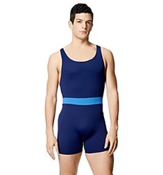 Mens Microfiber Racerback Two Tone Shorty Unitard Eduard