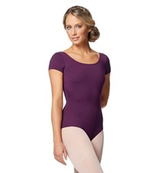 Women Short Sleeve V Back Dance Leotard Alyona