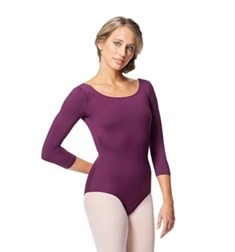 Women V Back Long Sleeve Tactel Dance Leotard Veronika